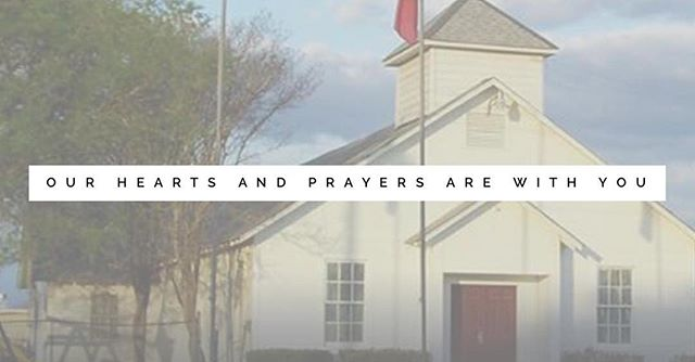 Our hearts and prayers go out to the families and community members of Sutherland Springs, Texas. Together we stand with you. We love you. #sutherlandsprings #sanantonio #togetherwestand