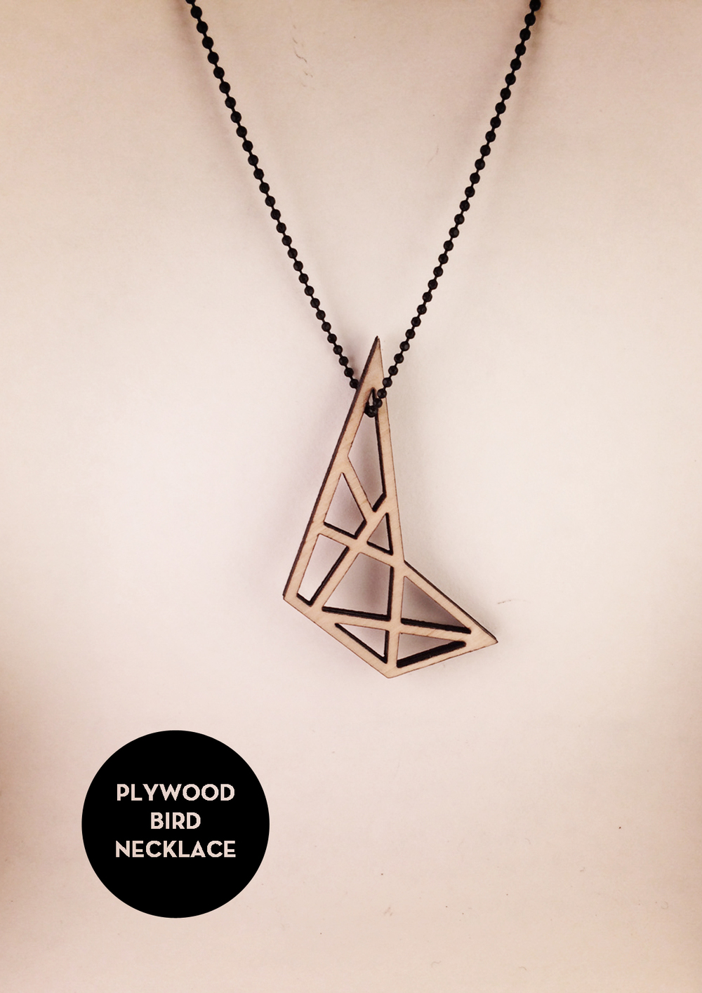 plywood necklace byANOUK