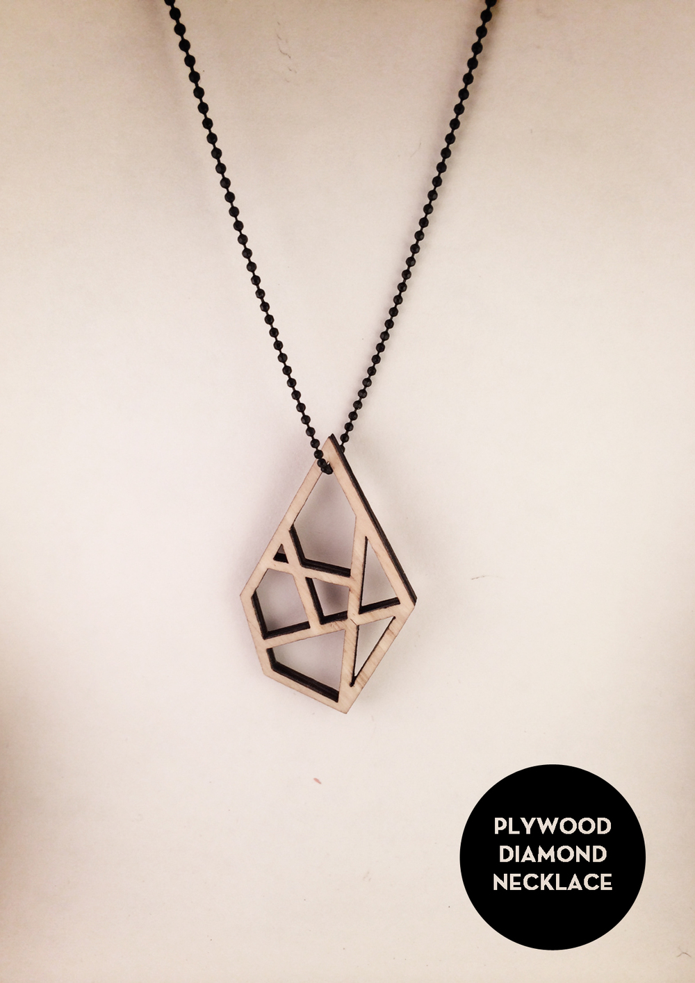 plywood necklace diamond byANOUK