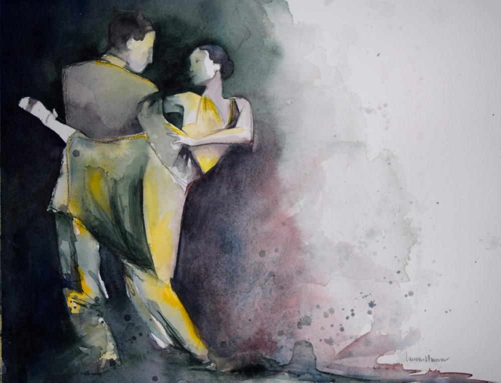 Body Language - 11x14 - watercolor