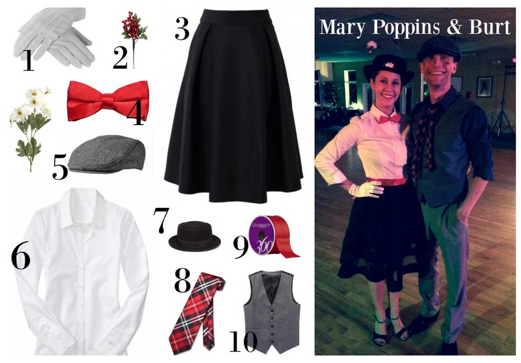 DIY Mary Poppins and Burt Halloween Costume