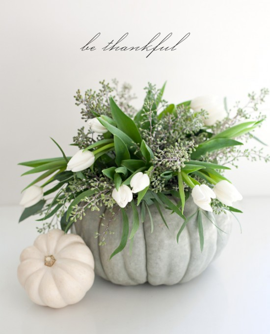 one charming party - i love the idea of using a pumpkin as a vase!!
