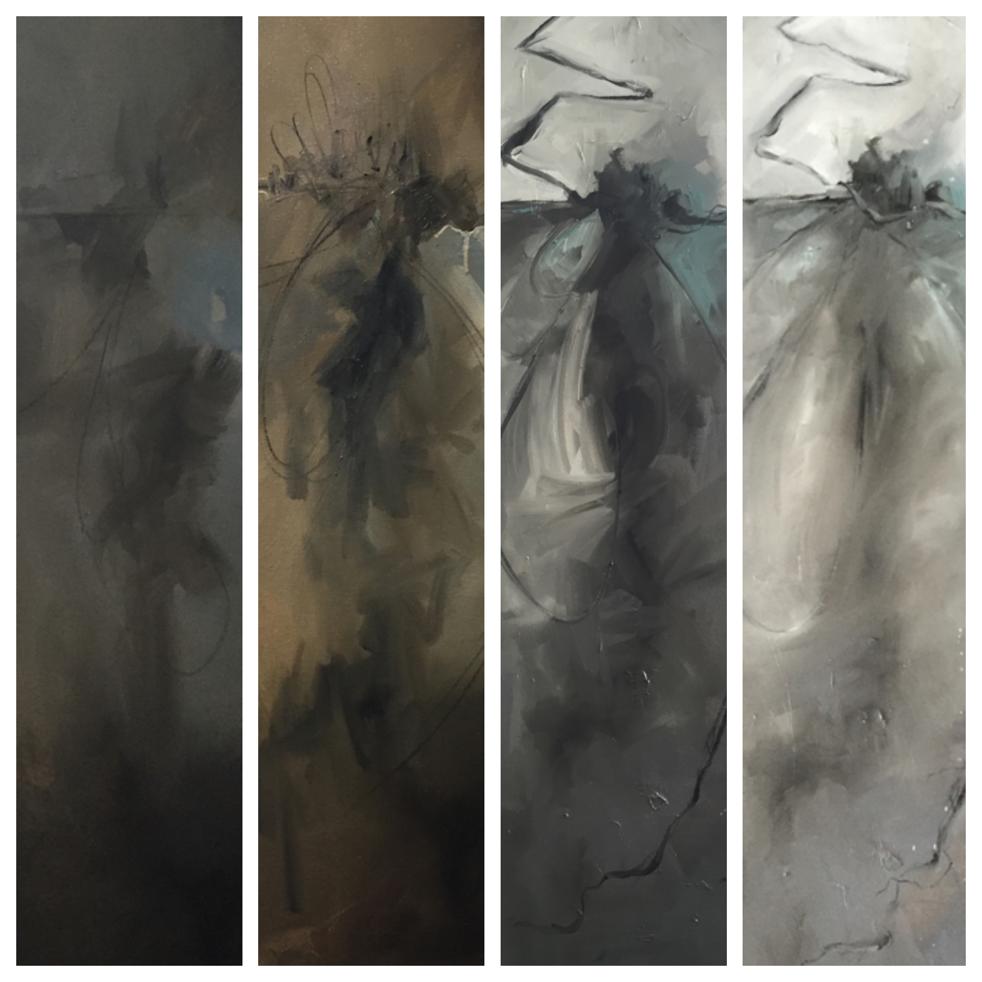 Progression of an idea - Abstract Art by Lauren Bolshakov