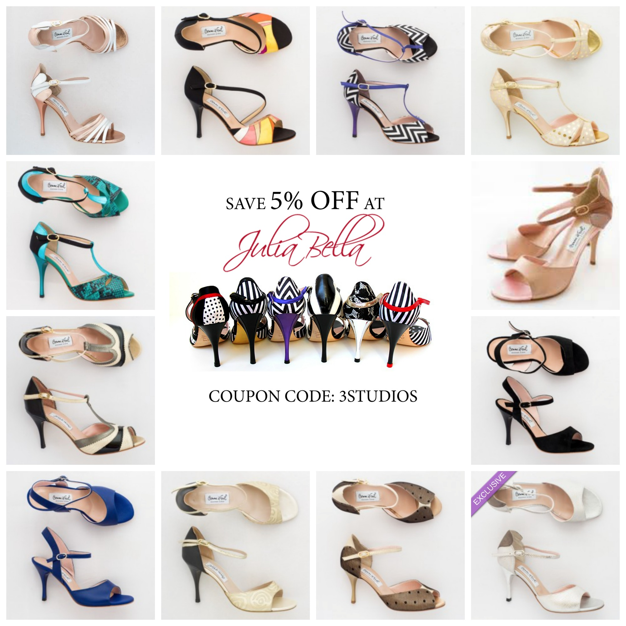 purchase come il faut tango shoes online - discount for three studios.net readers
