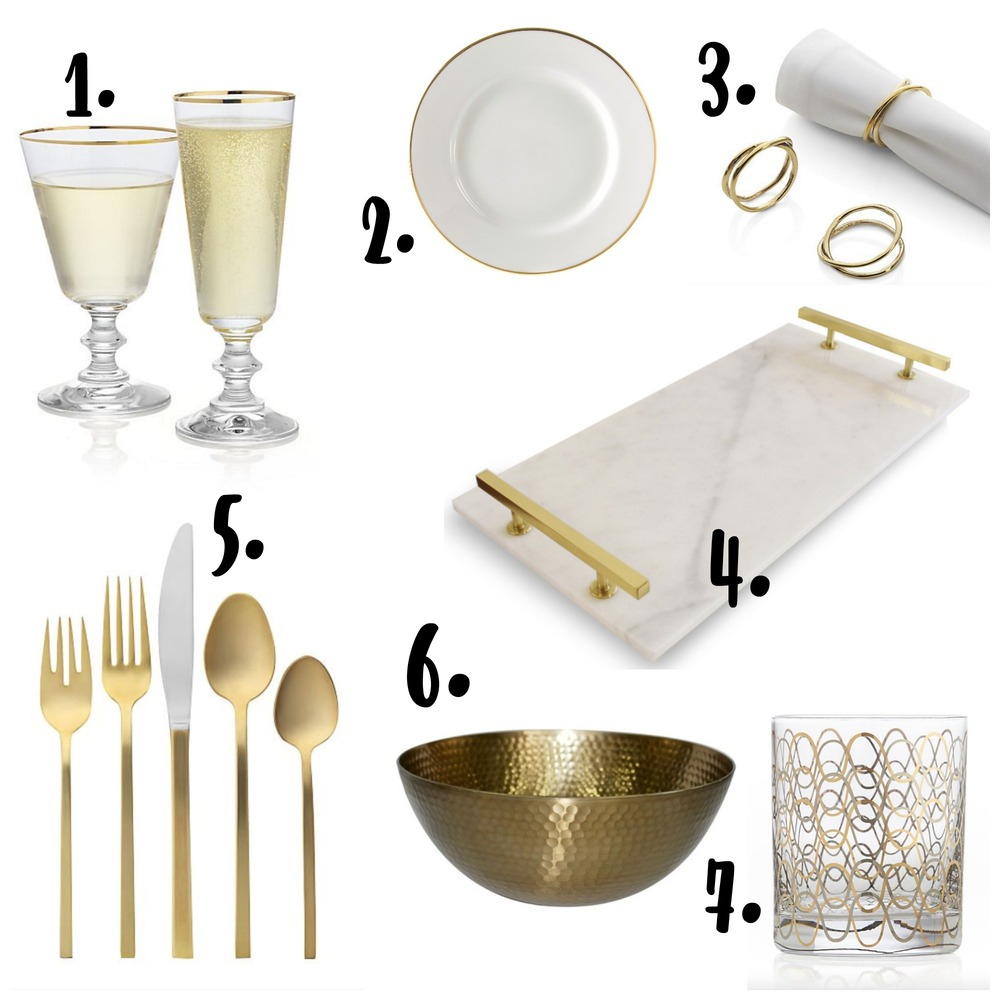 you can't go wrong with white and gold for your holiday place setting - threestudios.net