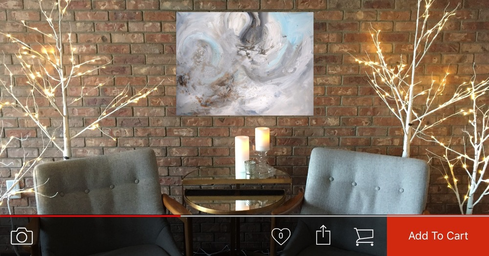 Van's Art Preview Feature... rotate your phone and you can see the art on your wall before you purchase!