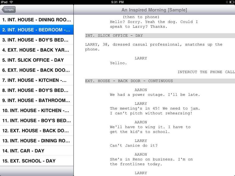 script writing programme