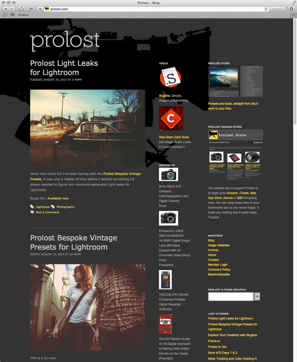 A snapshot of prolost.com on September 6, 2014