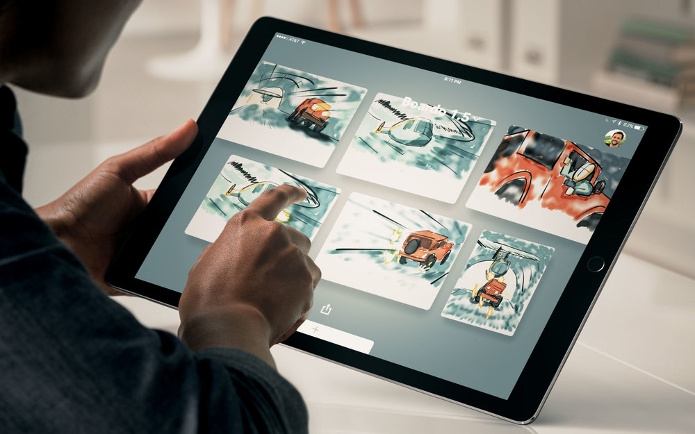 Storyboarding on the iPad Pro