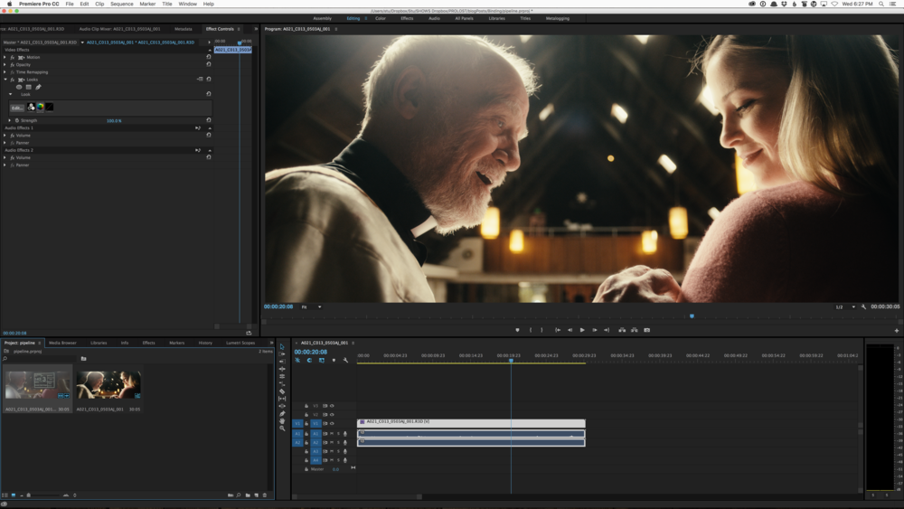 Color Grading under a LUT