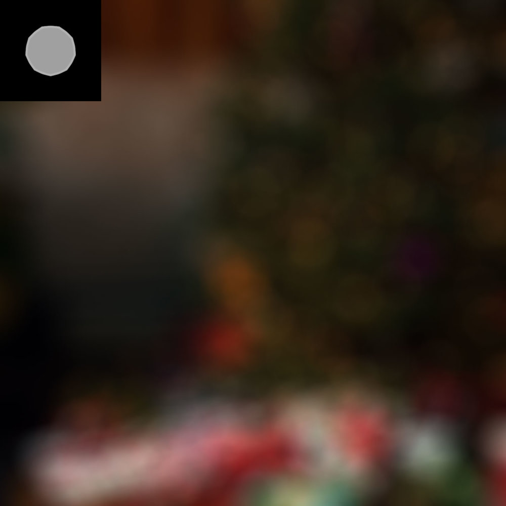 Focus blur kernel, focus blur