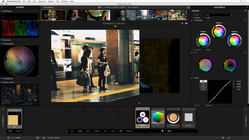 The Reference Library in Magic Bullet Looks 4.