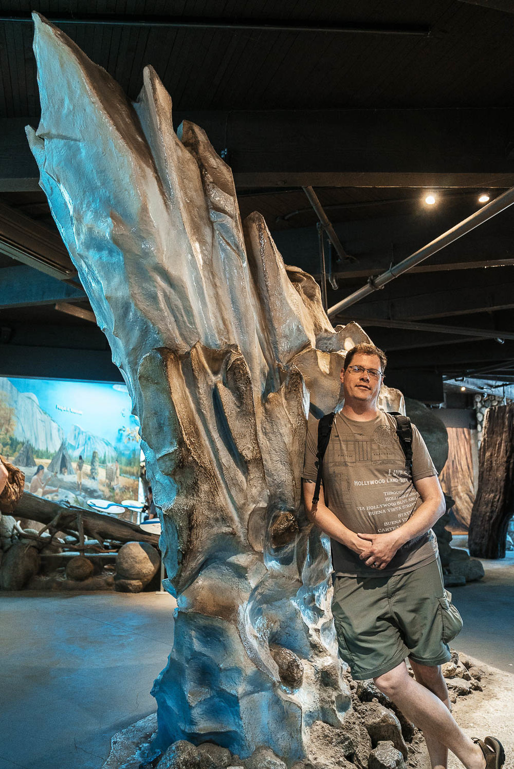 My brother Eric in front of the glacier exhibit he sculpted for the Yosemite Visitor's Center. Prolost Geartrain GT02 profile, all processing done in Lightroom CC for iOS.