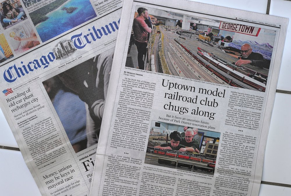 Story about Garfield-on Model Railroad Club that works since 1963 for the Chicago Tribune. 2019