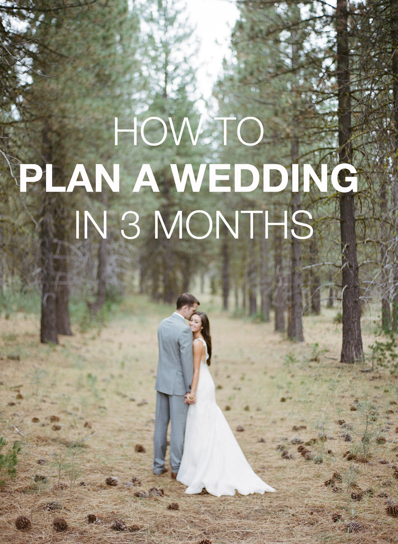how to plan a wedding in 3 months allie seidel