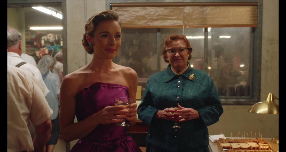 """Anni Krueger appearing as """"Velma"""" on The Marvelous Mrs Maisel."""