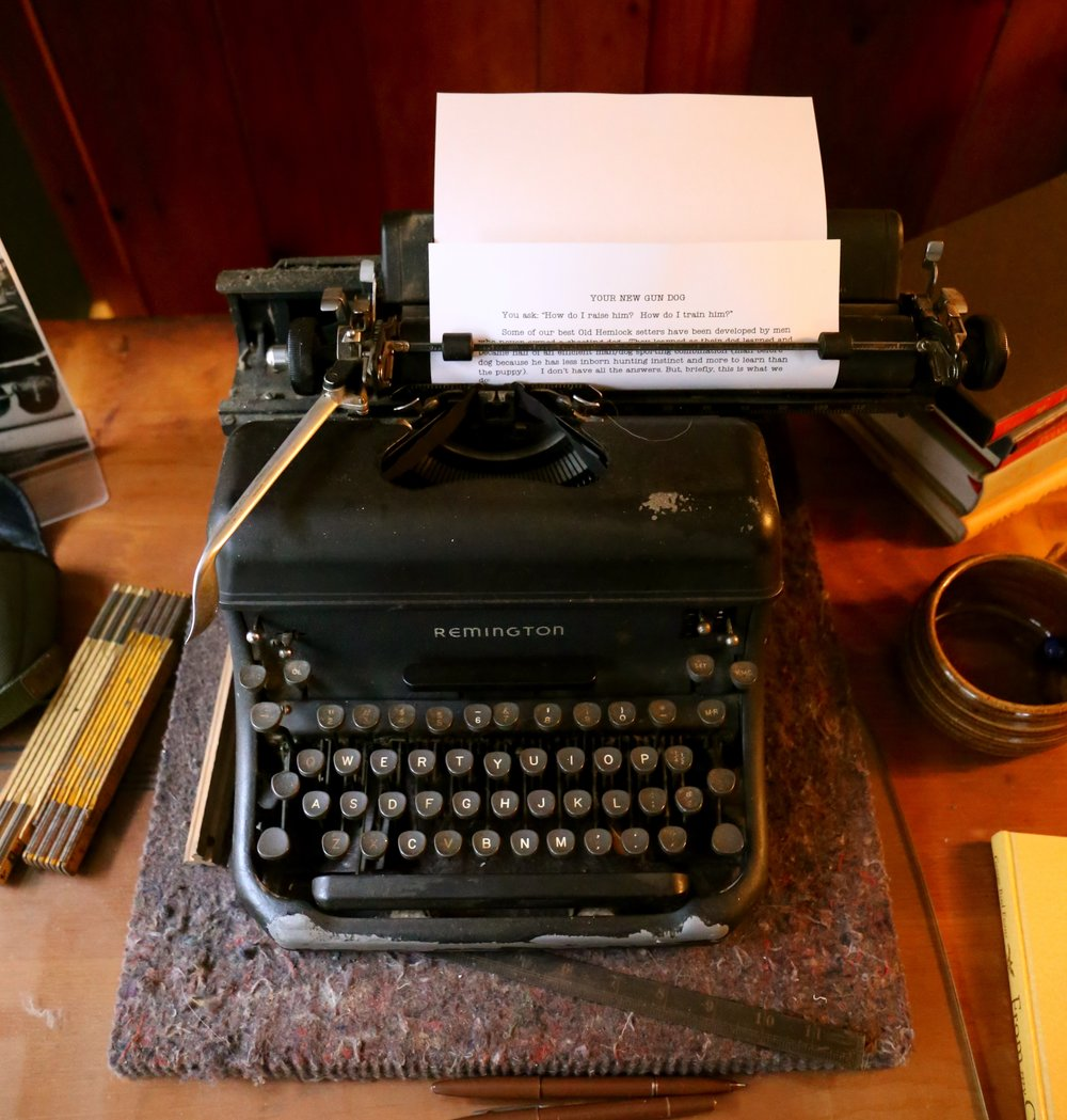 George's Remington typewriter that he wrote many of his classics on.