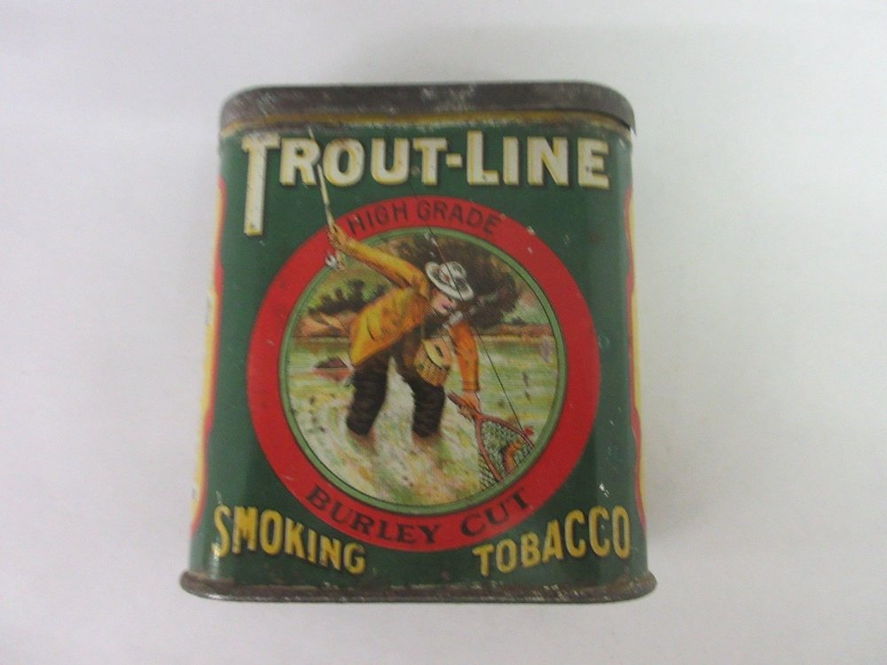 Trout Line Collectible Tobacco Tin