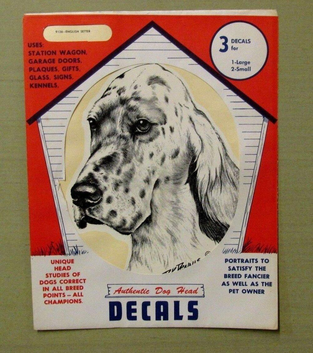Vintage Setter Decals