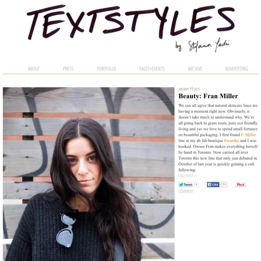 Textstyles || January 2015