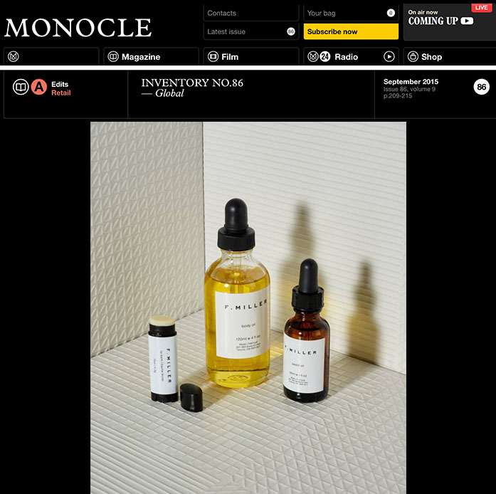 Monocle Magazine || September 2015