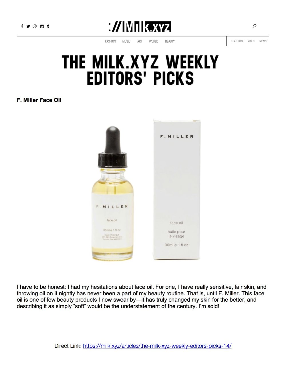 Milk XYZ June 2017