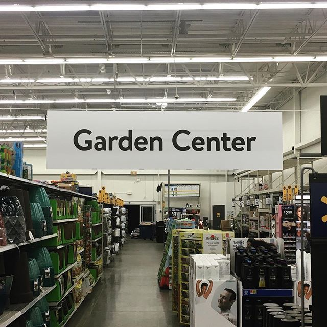 Hi, yes, I'm looking for the garden center? I can't seem to find it anywhere? They should put some signs up or something?