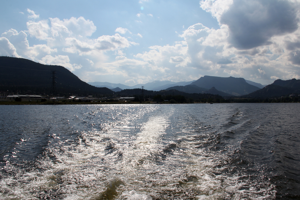 We spent some relaxing time out on Lake Estes on a pontoon.