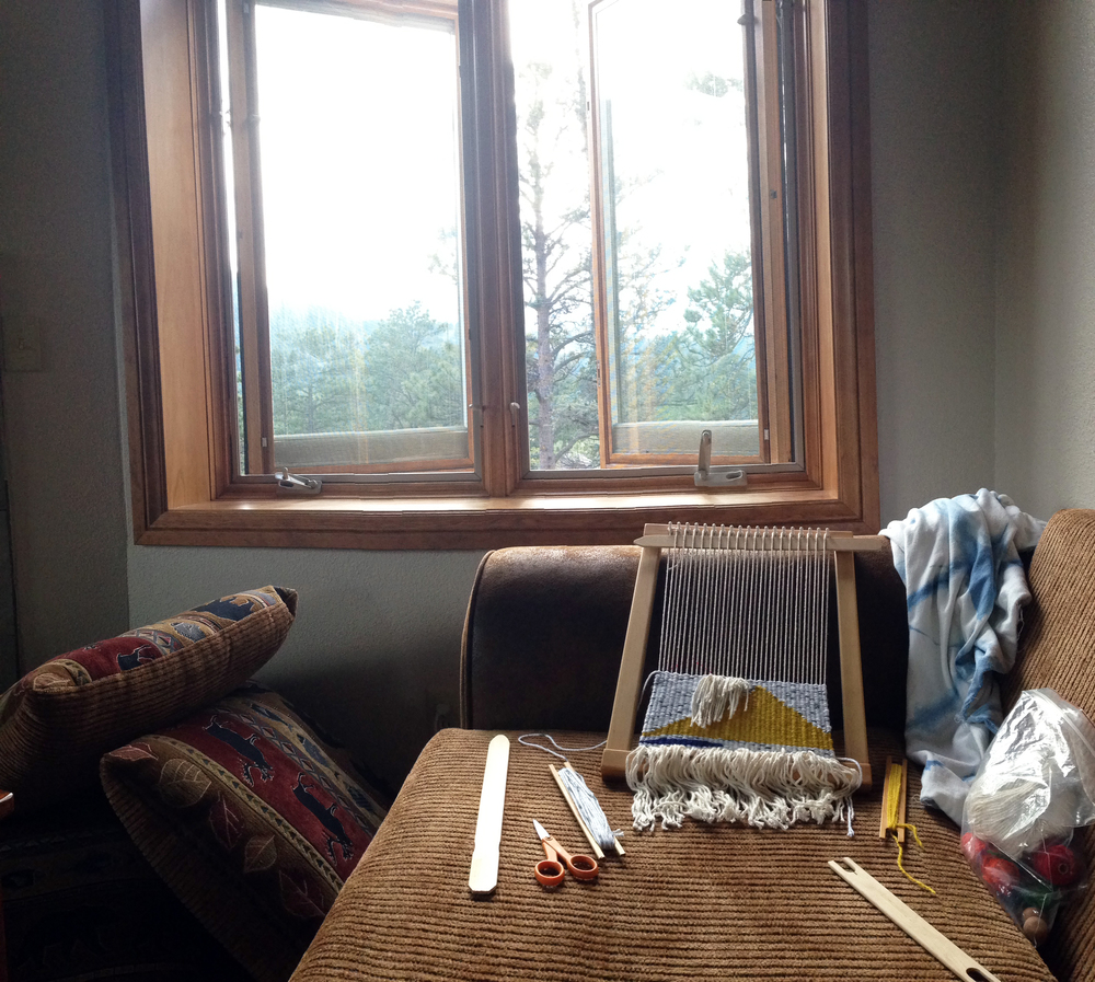 I loved this window in our cabin! Beautiful view of the mountains while I worked.