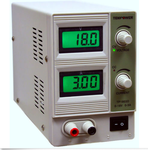 """Rectifier: This is the power supply needed for electroforming thatallows for fine tuning of the level of amps and volts. The model I use is """" Tekpower 0-3 amp, 0-18 volt DC Power Supply TP1803D"""""""