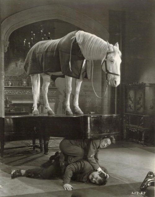 pollyalice :     Stan Laurel and Oliver Hardy in   The Music Box    (1932)      sturdy piano, no?