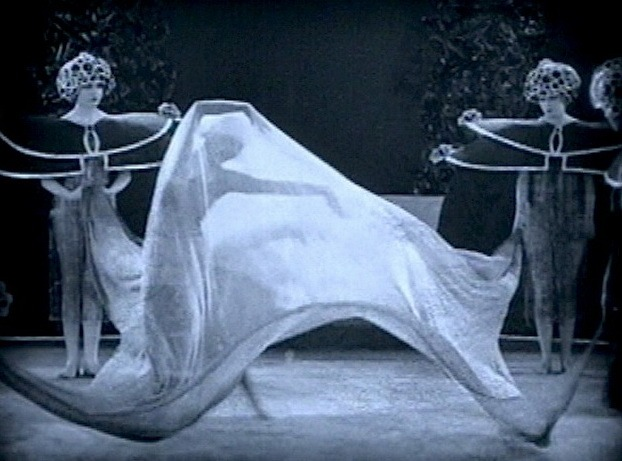 "wehadfacesthen :      Alla Nazimova  performing ""The Dance of the Seven Veils"" in  Salome  (Charles Bryant, 1923)"