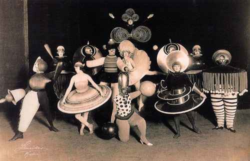 melaniejaneparker :         Bauhaus costumes by  Oskar Schlemmer , for the  Triadic Ballet .         (via  artsandcrafts )