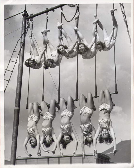 hollyhocksandtulips :      Aerial ballet, 1948