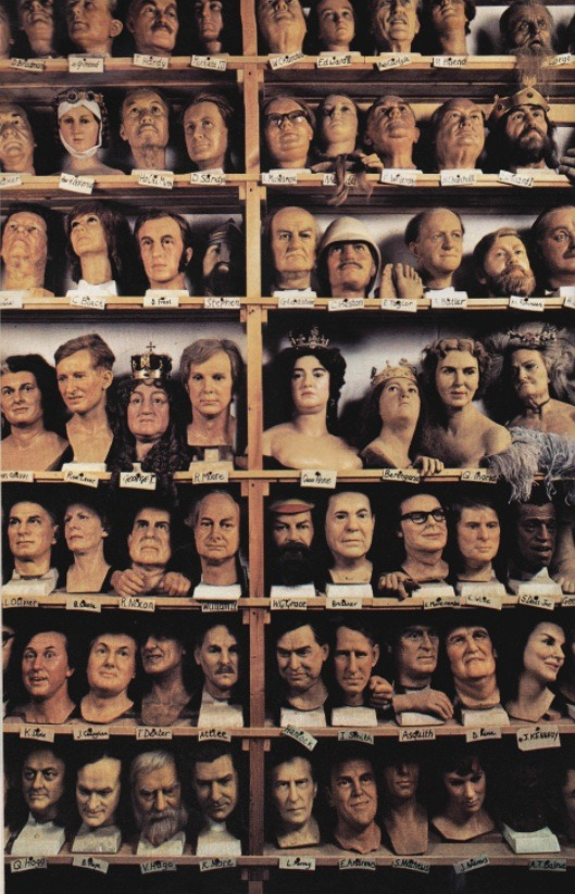 nationalgeographicscans :     Madame Tussaud's Wax Exhibition heads, October 1979