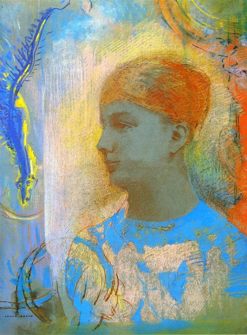 missfolly: Young Girl Facing Left by Odilon Redon, undated