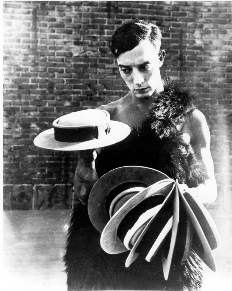 "theloudestvoice :      mothgirlwings :     (via  budandpaul )   Buster Keaton and his porkpie hats.  *swoon*   ""The Three Ages"", (1923)"