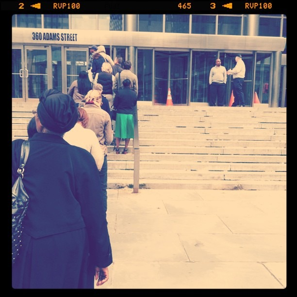 Jury duty. #waitinginline (Taken with  instagram )