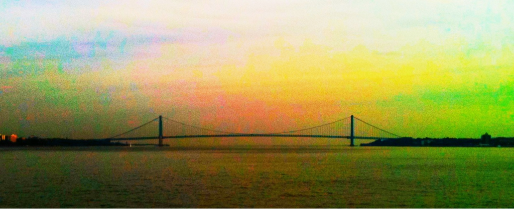 sapientiaoscen :     Verrazano Narrows  … Via SI Ferry  #bridge     Beauty. And the SI ferry is free!