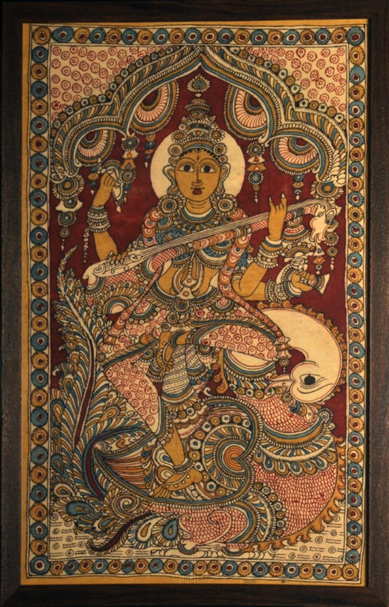 missfolly: Goddess Sarswati, Goddess of Knowledge and Music, by an Anonymous Artist
