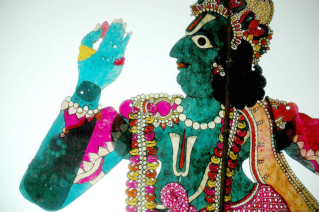 Rama puppet at Dakshina Chitra (via tommivananthapuram )