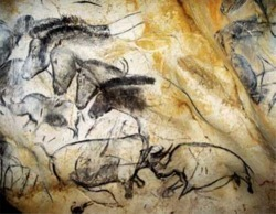 30,000 year-old horses from the Cave of Forgotten Dreams.