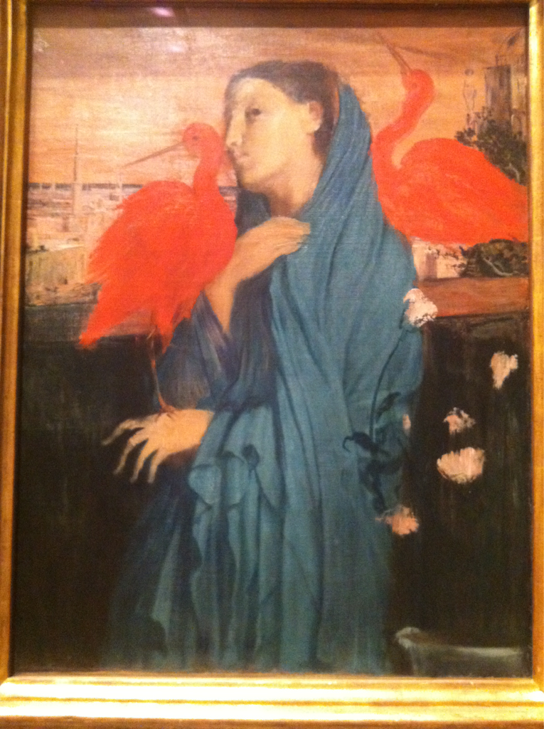 I can't believe this is Degas. From ~1861. My mind was blown. It's so bright. Mysterious ibises if you ask me. This should be more famous than his dancers.