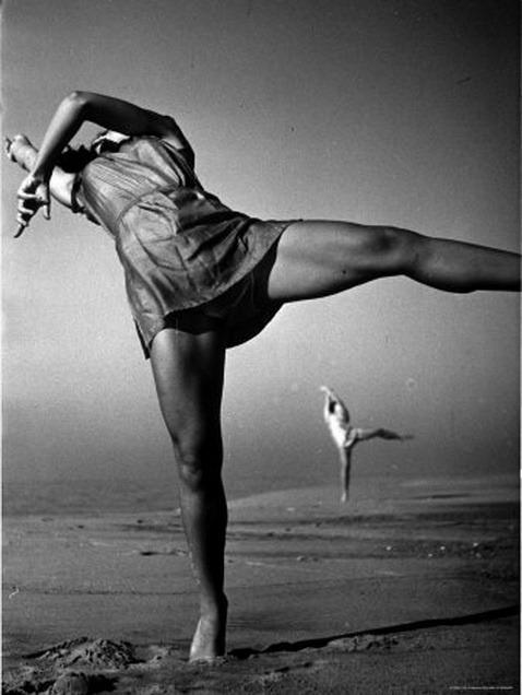 Anita John elongating on the beach. Feels good. Found  here