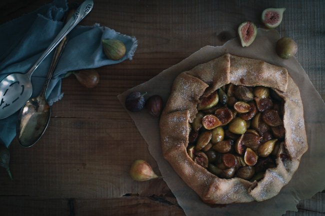 fig + orange blossom crostata