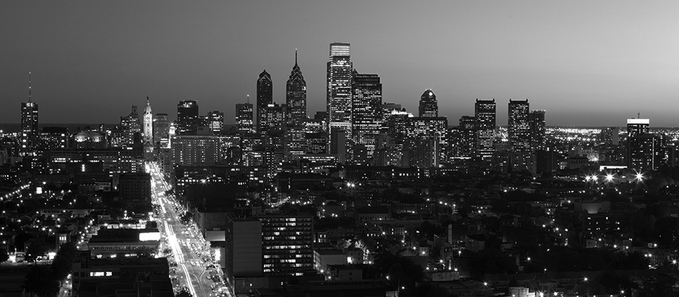 View of Center City Skyline from Temple University