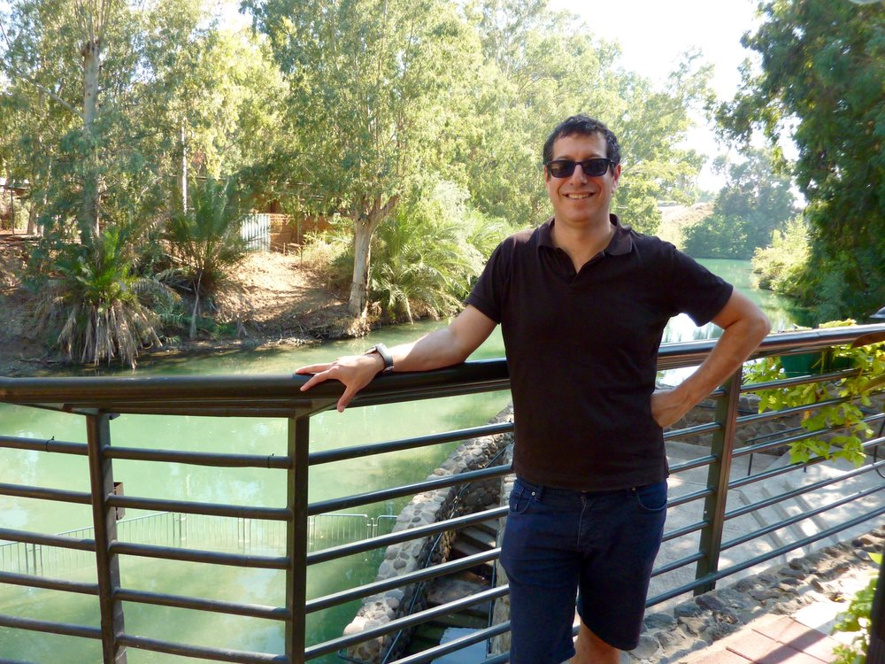 Izhak at the Jordan River baptismal site
