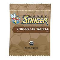 Organic Chocolate Waffle Box of 16 waffles.  MSRP $23.24. Honey Stinger Organic Waffles make a great tasting snack. For years, similar waffles have been sold on street corners throughout Europe and eaten by professional cyclists, so we decided to create our own by sandwiching honey between two thin waffle wafers. Honey Stinger Organic Waffles are the only product of their kind that's certified organic and available in a single-serving wrapper.