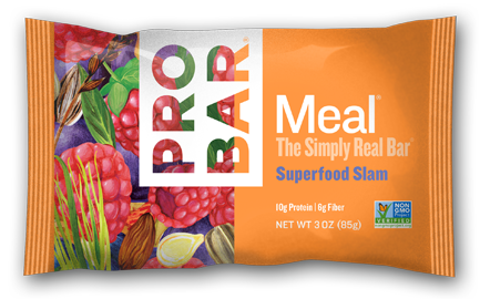 Superfood Slam Box Of 12 $40 is a nutritional powerhouse. Our organic acai berries, pure raspberries, dark chocolate and greens are blended together with PROBAR's 10 signature ingredients for a bar that is good for you and tastes SUPER in every bite.