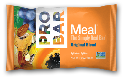 Original Blend Box Of 12 $40 The Original Blend tastes like your favorite trail mix in a bar. It is a delectable combination of whole grain goodness, chunky nuts, and moist, delicious fruits.